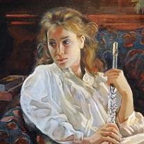 Inga with Flute by Chris Duke