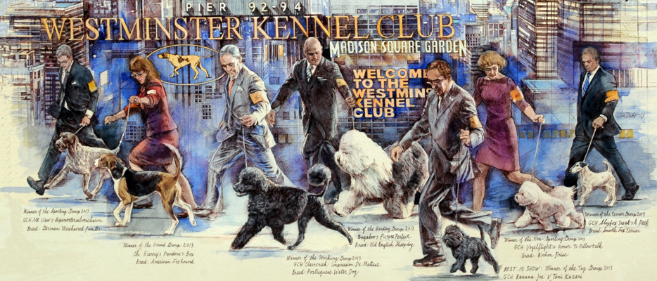 Westminster Dog Show 2014 Poster by Chris Duke