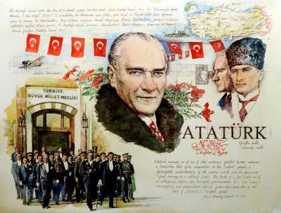 Ataturk Montage by Chris Duke