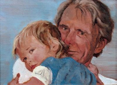 Violet in Grandpa's Arms by Chris Duke