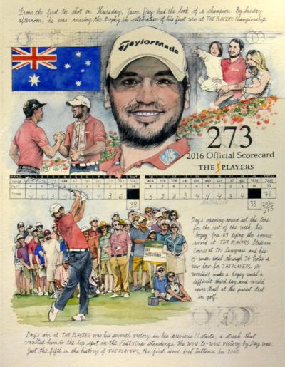 Jason Day - THE PLAYERS, 2016 by Chris Duke