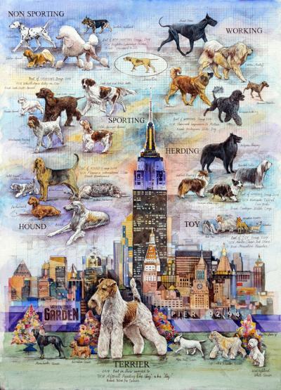 Westminster Dog Show 2015 Poster by Chris Duke