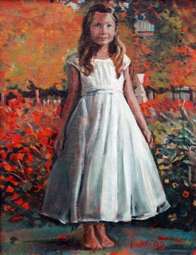 Zoe in the Tuileries Garden by Chris Duke