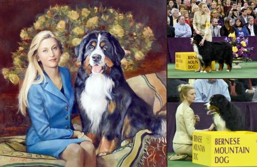 Painting Odin, Bernese Mountain Dog - Chris Duke