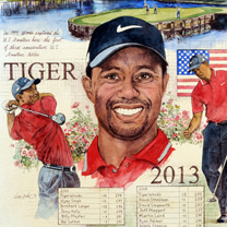 Tiger Woods 2013 by Chris Duke