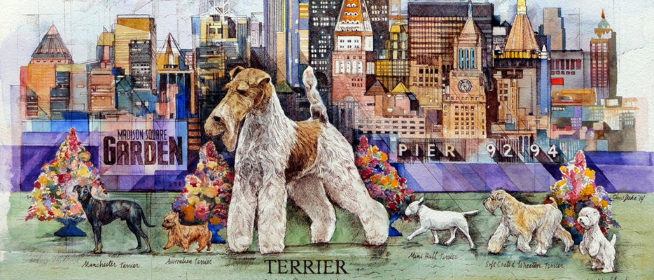 Westminster Dog Show 2015 Poster by Chris Duke