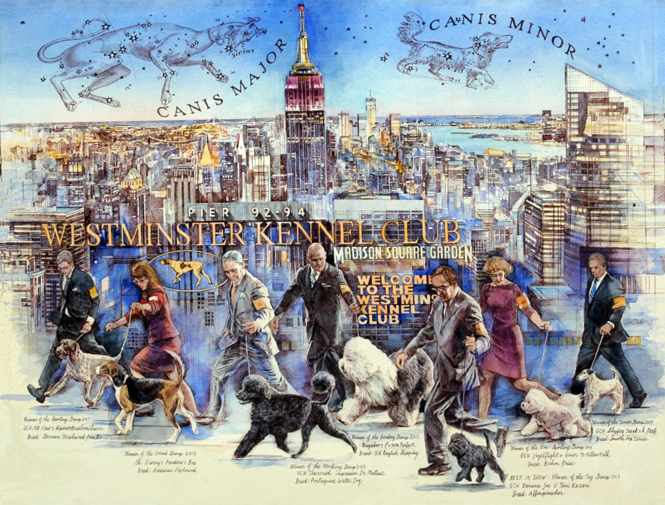 Westminster Dog Show 2014 Poster Chris Duke Art