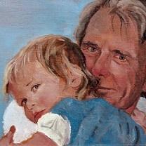 Violet in Grandpa's Arms by Chris Duke