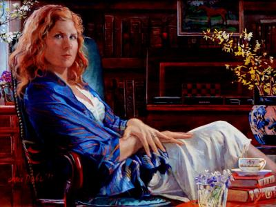Elizabeth in Shawl by Chris Duke