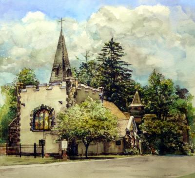 Grace Church in Summer by Chris Duke