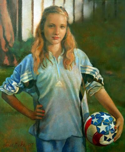 Kara with Soccer Ball by Chris Duke