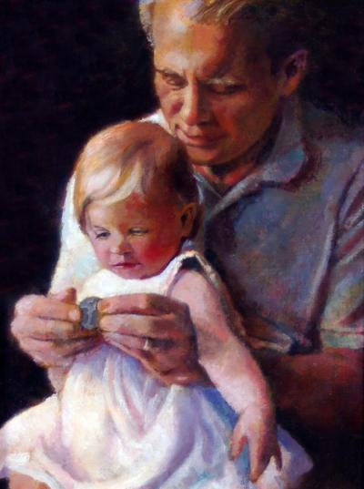 Violet and Grandpa by Chris Duke