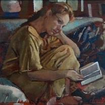 Inga Reading - II by Chris Duke
